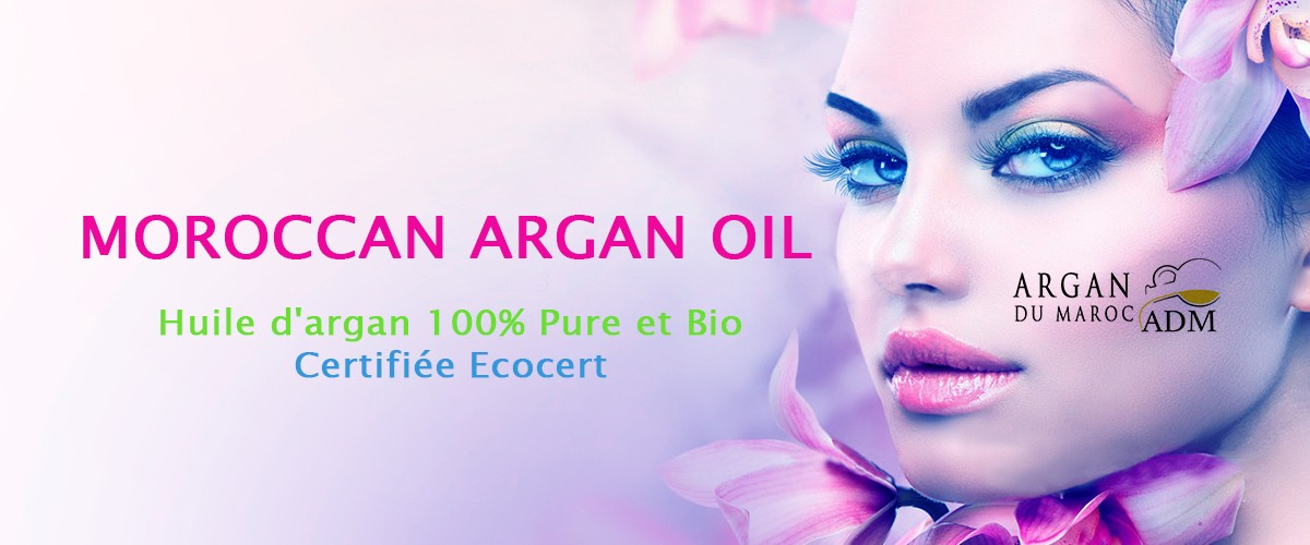 Natural cosmetic argan oil from Morocco